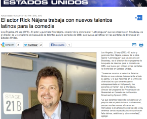 Rick Najera Featured on MSN for Work as Director of CBS Comedy Showcase